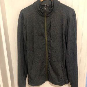 Lululemon dark gray long zip up Jacket 12